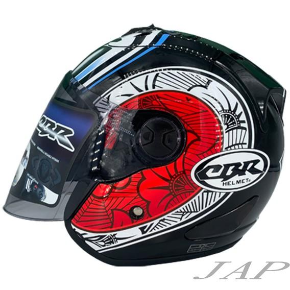 CBR S70安全帽 彩繪 大眼睛 R帽 內襯全可拆洗 半罩