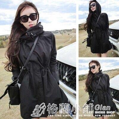 春秋戶外衝鋒衣女韓版中長款ins西藏旅游薄款登山服防風外套