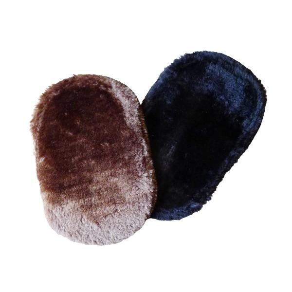 4092 絨毛擦鞋手套 /便攜仿羊毛擦鞋布 軟毛鞋刷 擦鞋布