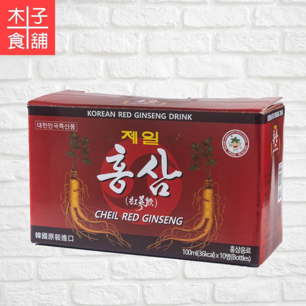 韓國CHEIL紅蔘飲(10罐組)【木子食舖】