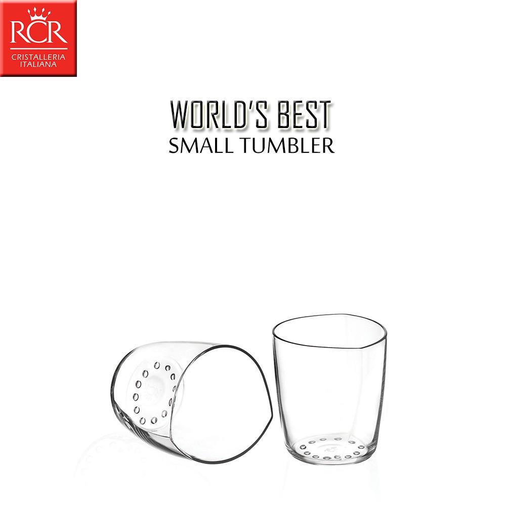 義大利RCR WORLD'S BEST 2入組 烈酒杯 170mL 甜點杯 水杯 無鉛水晶玻璃杯