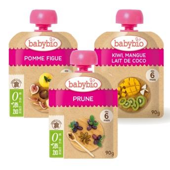 法國Babybio 生機纖果泥90g-2019新口味