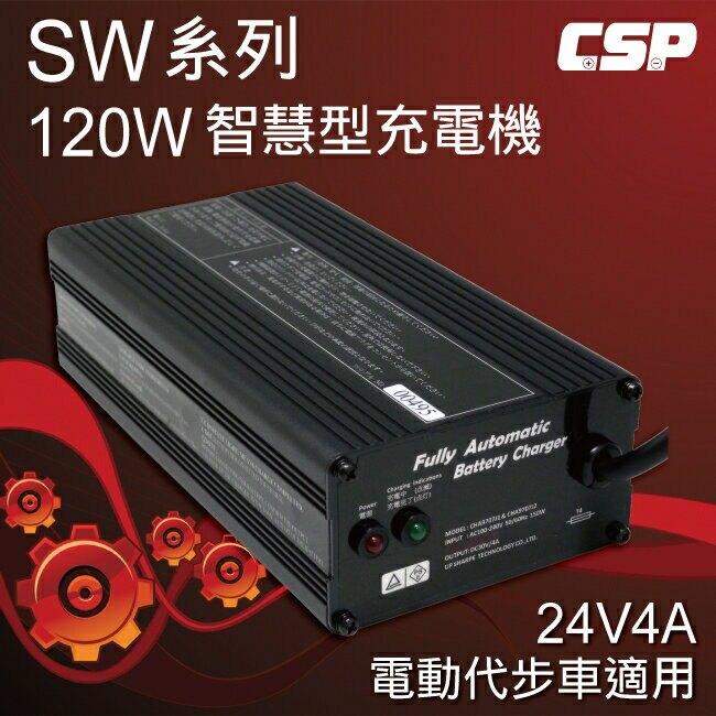 電動腳踏車適用SW24V4A充電器(120W) 鋰鐵電池/鉛酸電池 適用