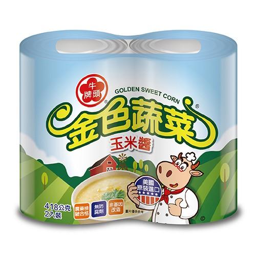 牛頭牌金色蔬菜玉米醬418Gx2【愛買】