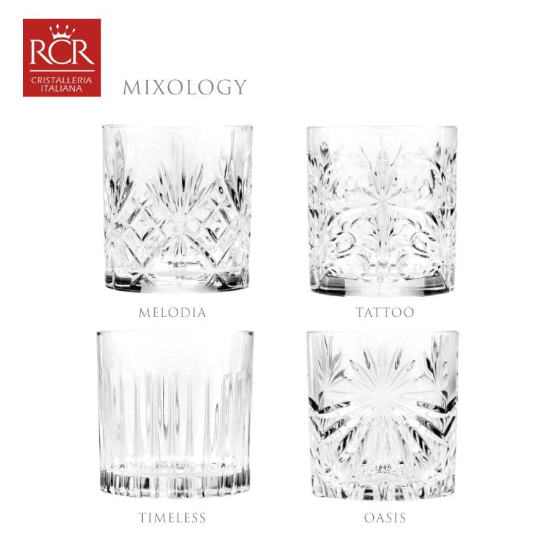 義大利RCR調酒系列水晶玻璃禮盒組威士忌雞尾酒杯360ml-4入