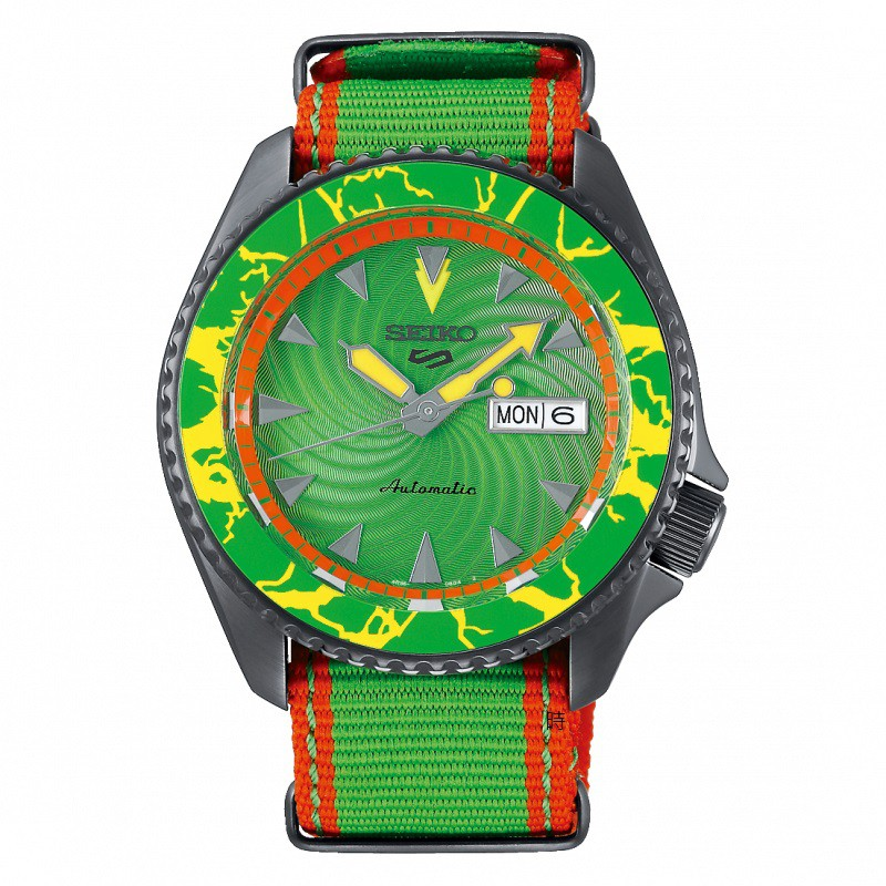 SEIKO 精工 5 Sports 快打旋風 布蘭卡 聯名限量機械錶(SRPF23K1) 4R36-08T0G