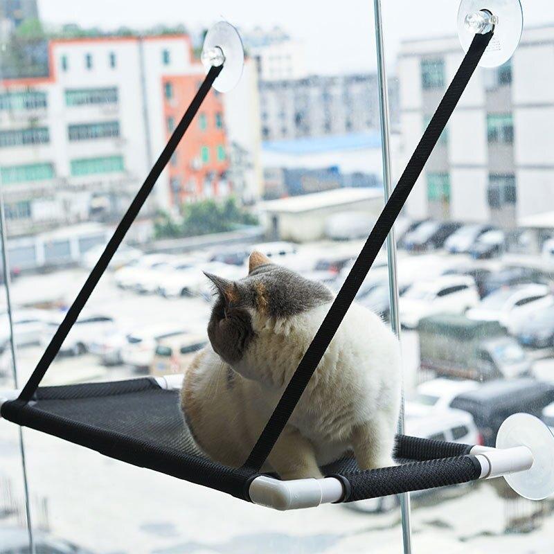11.11 貓吊床吸盤式陽臺雙層秋千寵物掛窩貓咪曬太陽掛床貓咪吊床窩窗臺