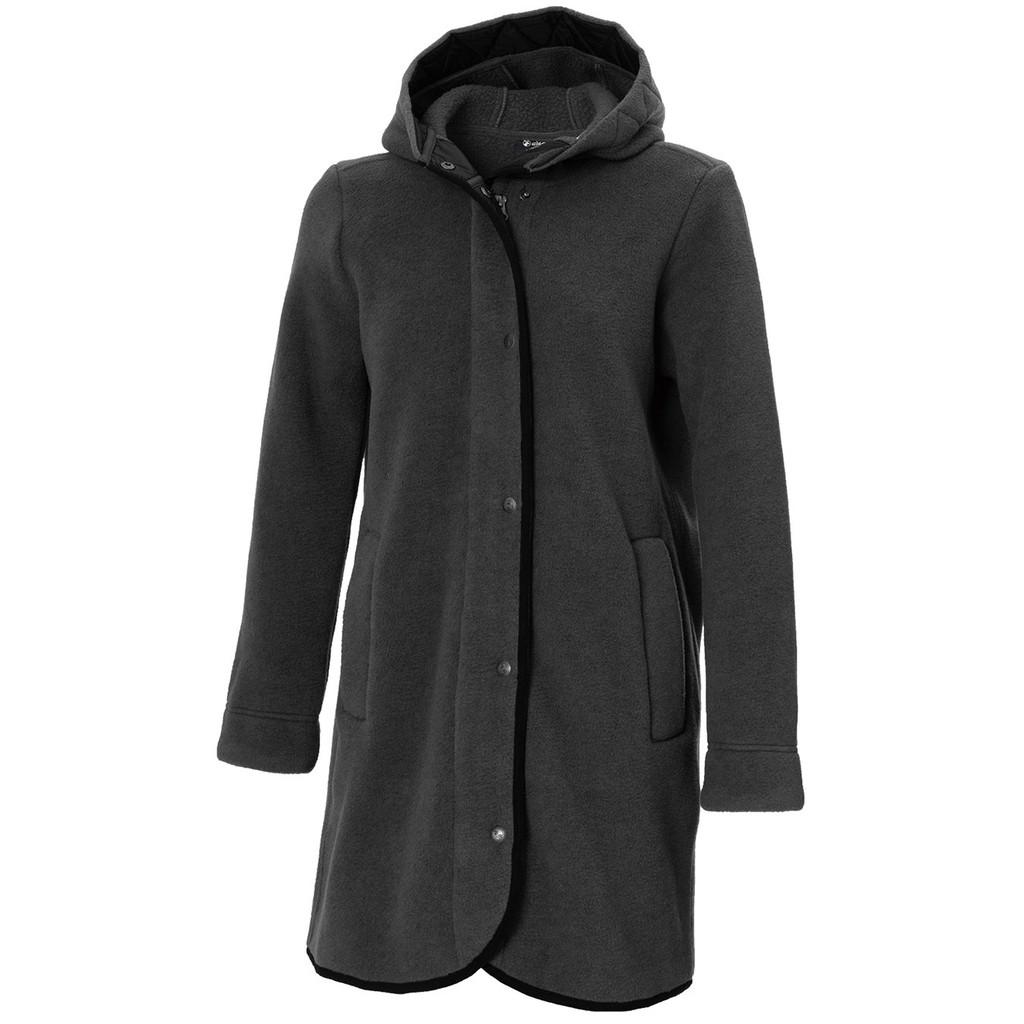 【WILDLAND荒野】女 POLARTEC 300極暖外套 P2611-99深霧灰色 吸濕快乾中長版外套/野雁戶外