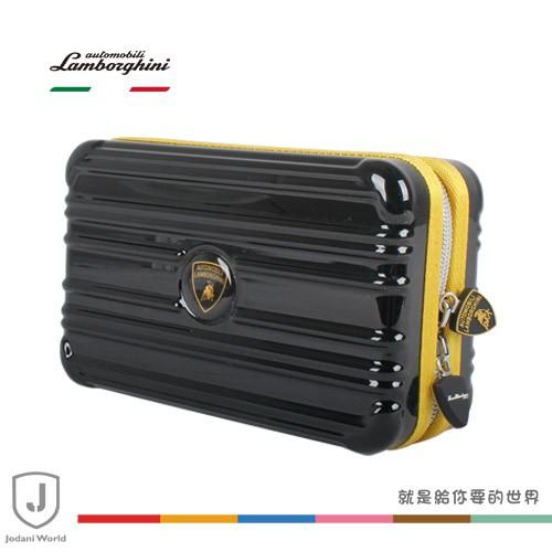 Lamborghini藍寶堅尼 過夜包 盥洗包 化妝包 (黑/黃)