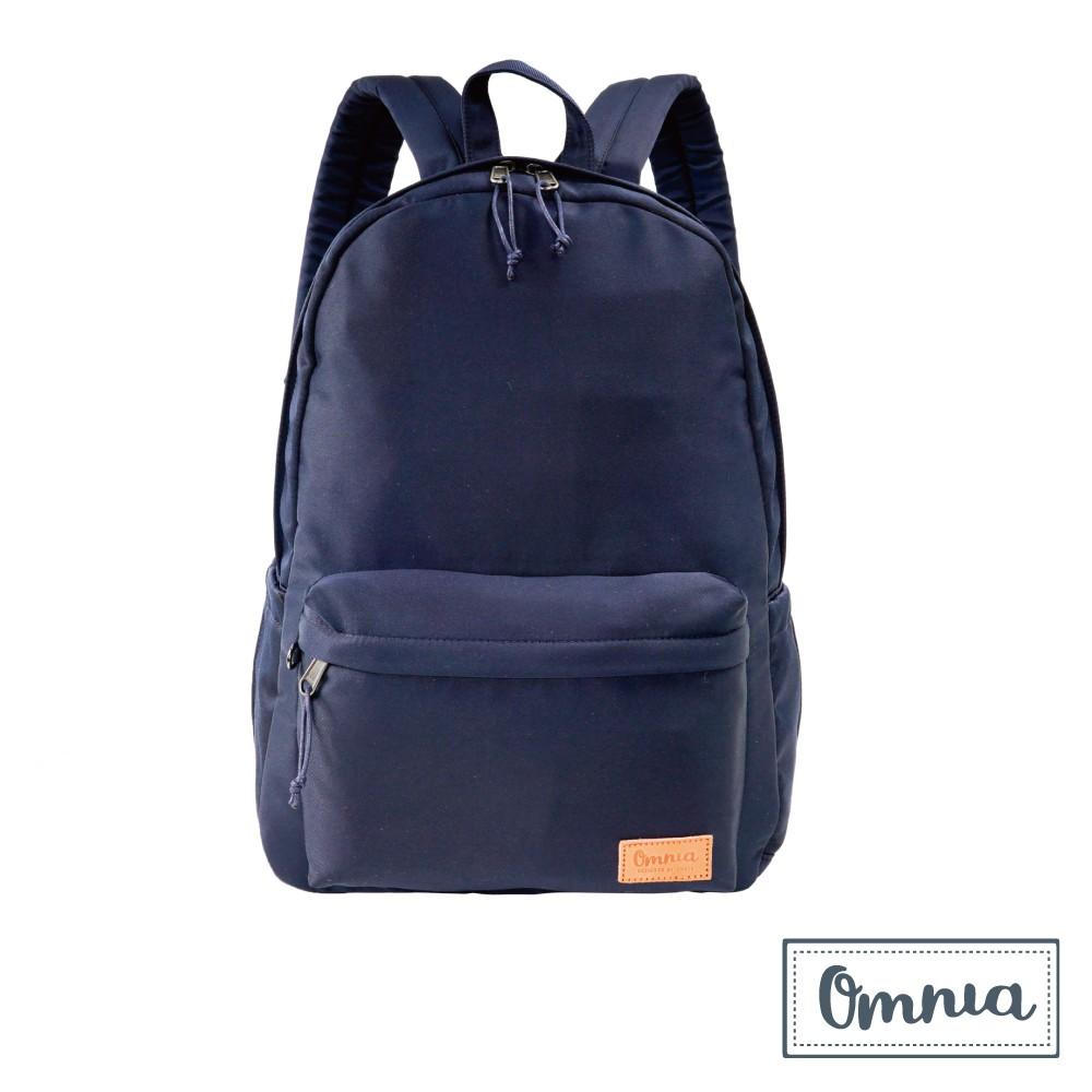 【OMNIA】城市微光大容量減壓雙肩NB後背包(深藍)