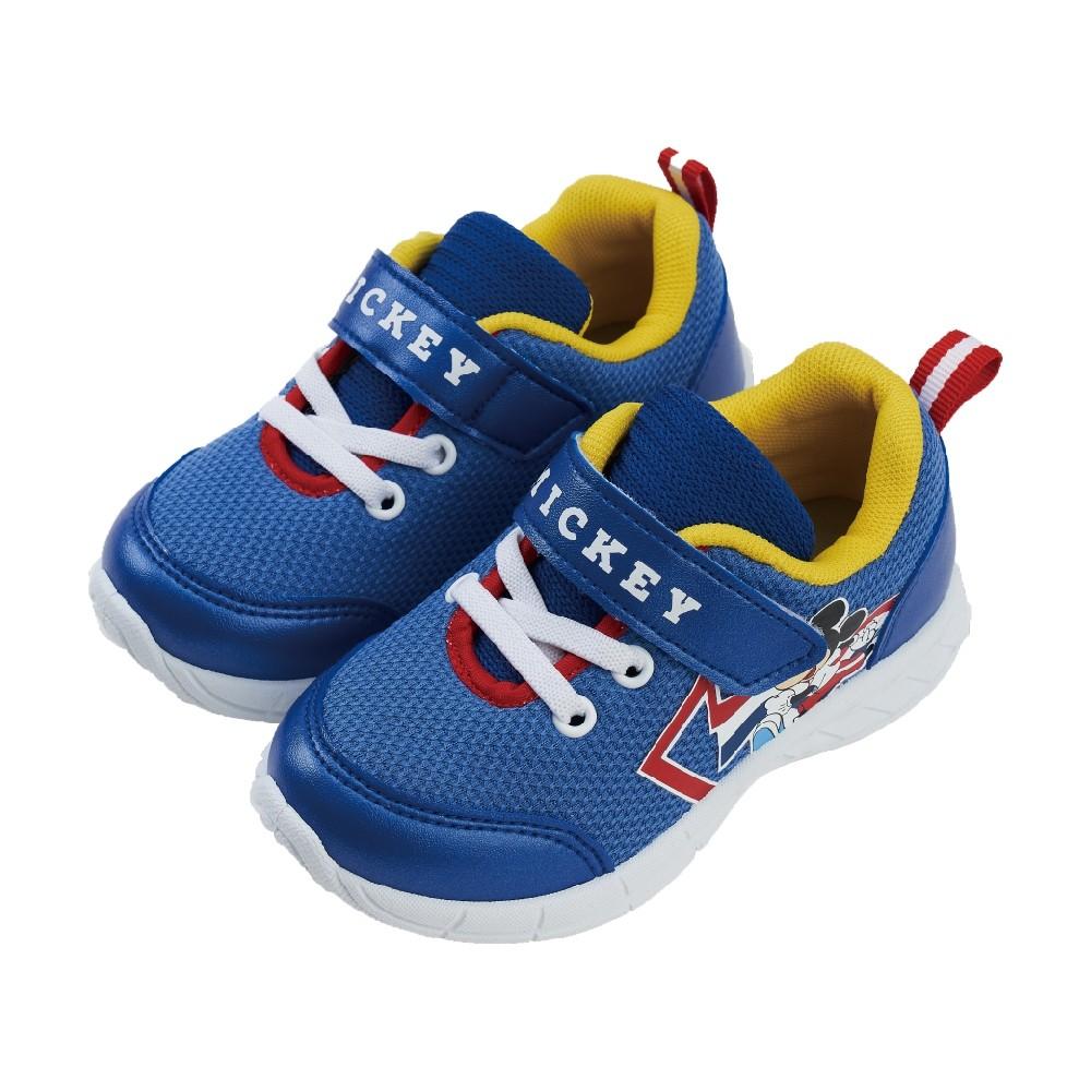 迪士尼童鞋 米奇 魔鬼氈造型休閒鞋-藍
