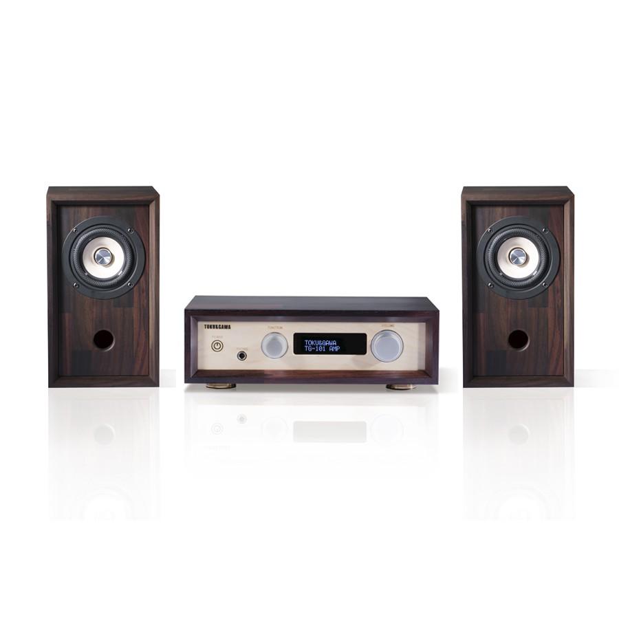 德川音箱 《百姓足》系列 數位綜合擴大機+三/四吋全音域揚聲器組合 贈喇叭線(3m)&不鏽鋼角錐