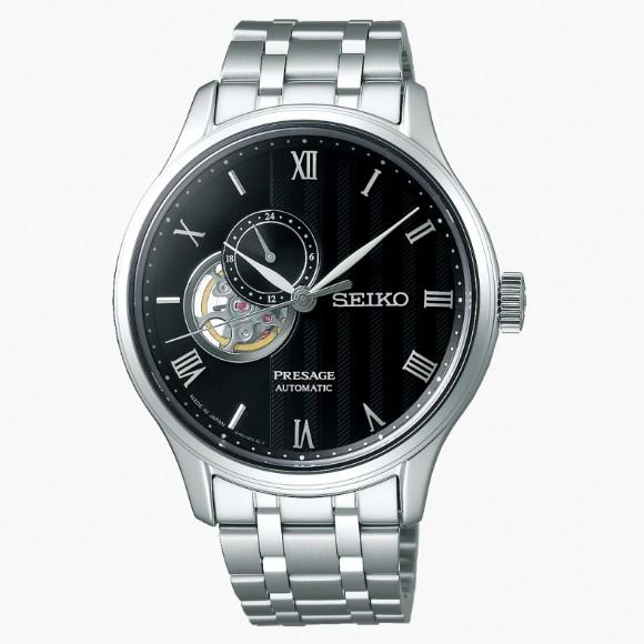 SEIKO 精工 PRESAGE 4R39-00W0D 簡約經典開芯機械腕錶 (SSA377J1)