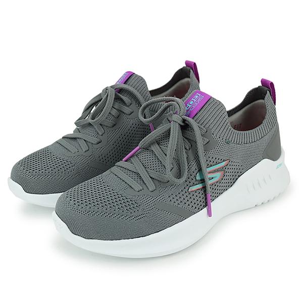 SKECHERS 女慢跑系列女款襪套式慢跑鞋 128145CCLV 灰紫
