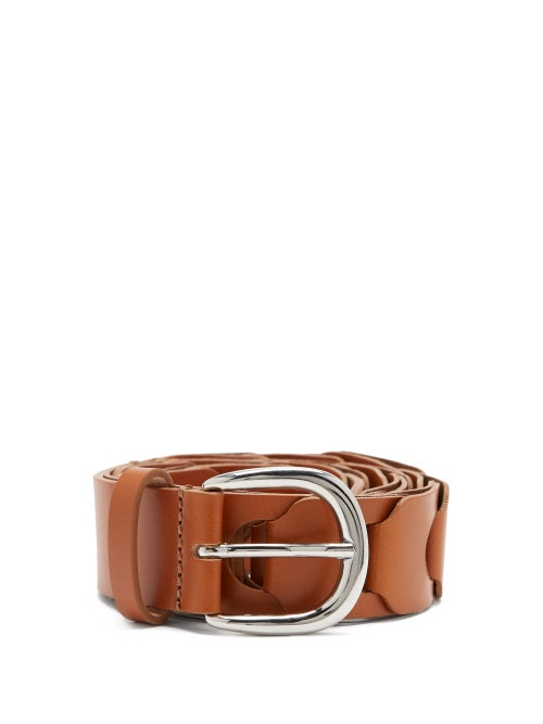 Isabel Marant - Zak Braided-leather Belt - Womens - Tan