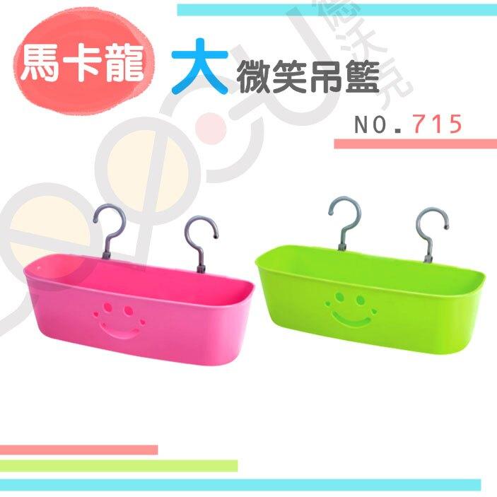 展瑩715 馬卡龍大微笑吊籃 置物籃 掛籃 可串聯 台灣製