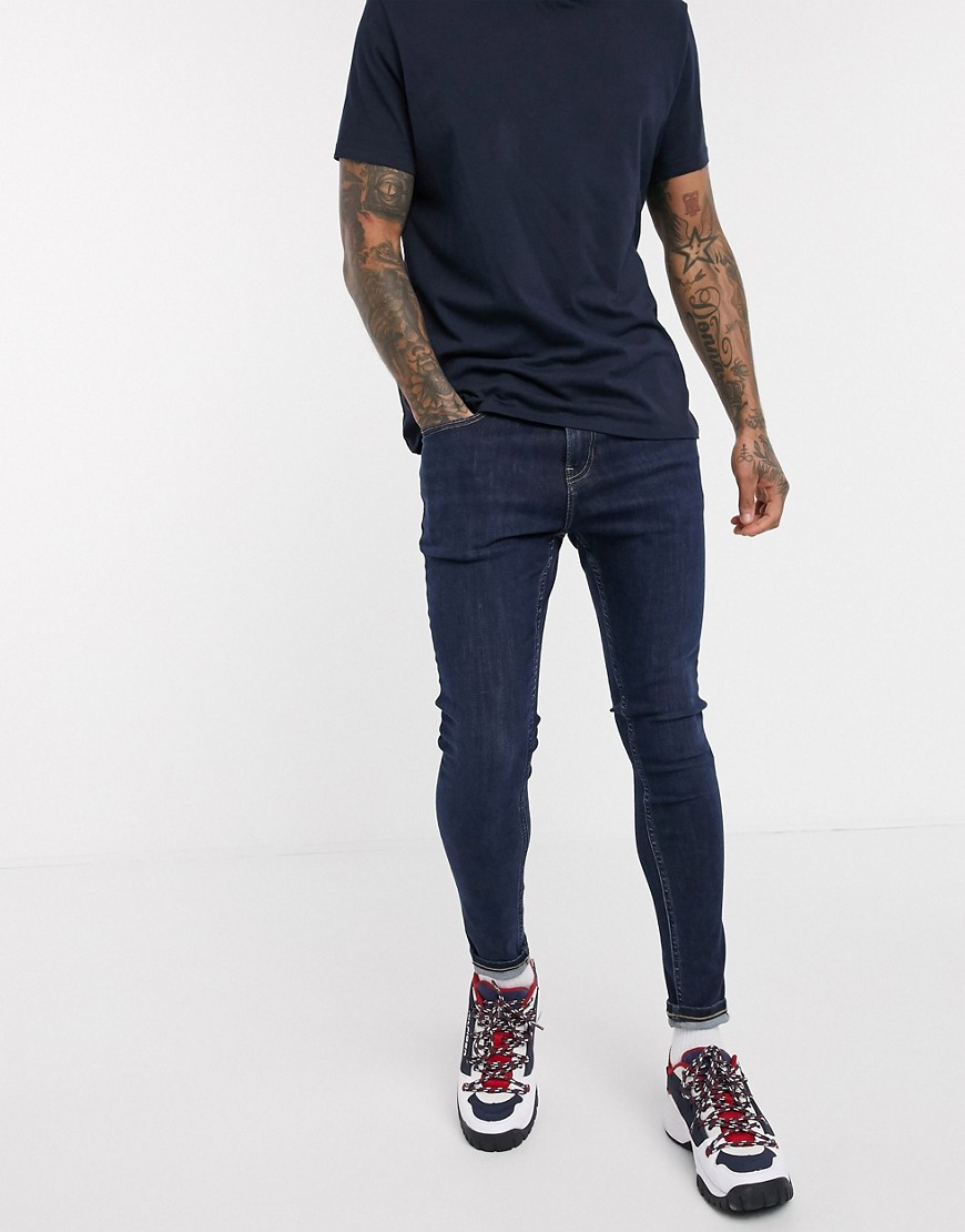 Tommy Jeans ASOS Exclusive super skinny fit jeans in dark wash-Blue