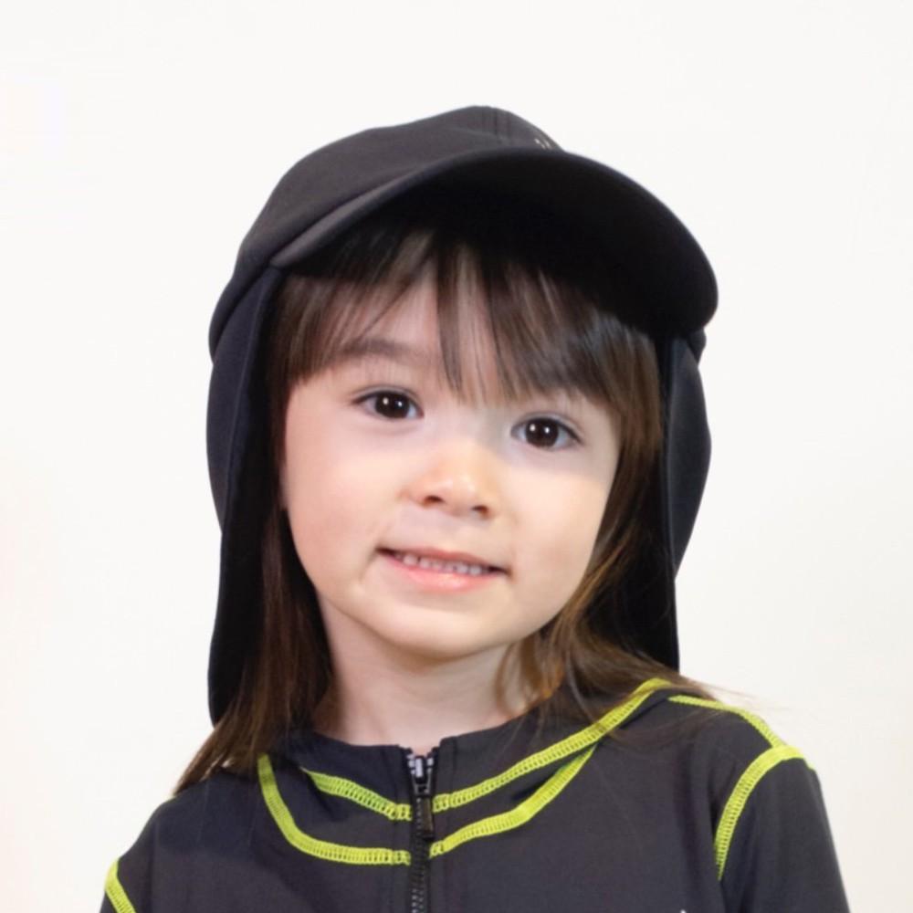 HOII后益 Mr. Hosea Ho 二合一護耳帽-兒童(二色:黑/灰)
