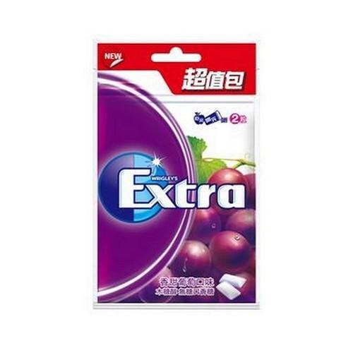 EXTRA口香糖超值包-香甜葡萄62g【愛買】