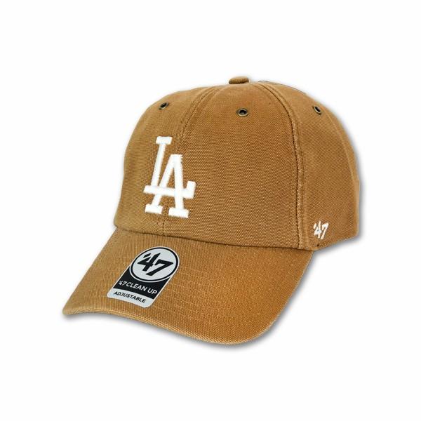 Carhartt X 47 MLB 洛杉磯 道奇 卡其底白字 聯名款 棒球帽 老帽【TCC】