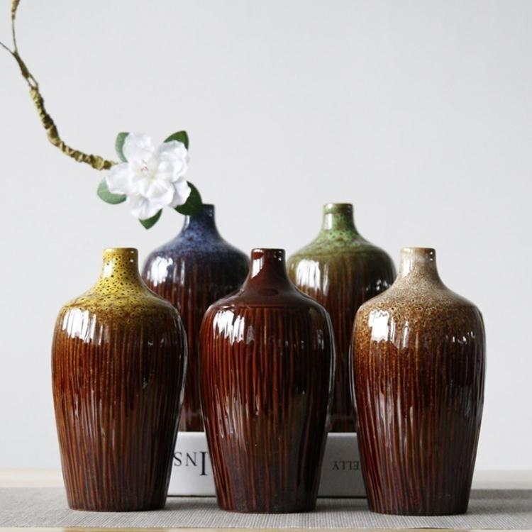 【快速出貨~】 花瓶 小花瓶陶瓷擺件客廳小清新干花插花北歐簡約白瓷滿天星家居裝飾品 9-27