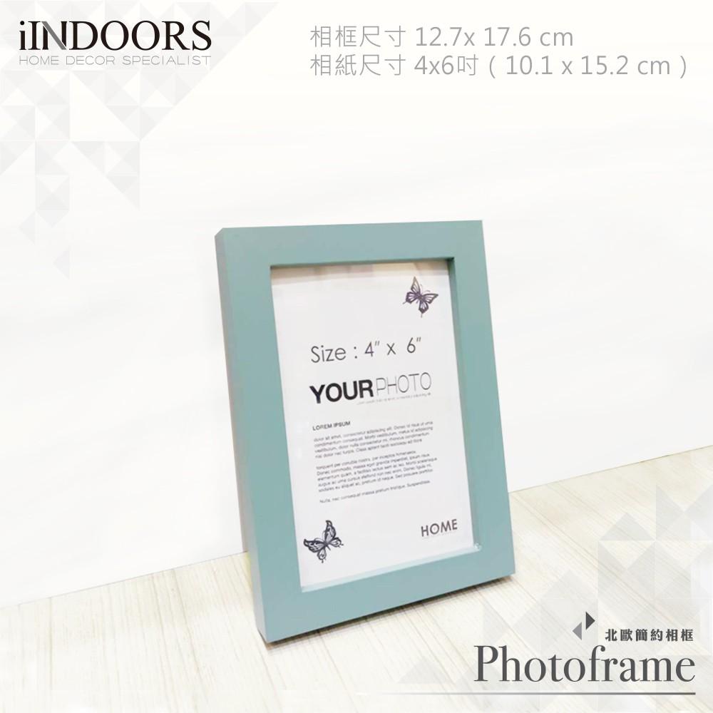 英倫家居 現貨 北歐簡約相框 綠灰色 4x6 送黏土 實木畫框 照片相片 證書 拼圖 海報裱畫 室內設計 婚禮布置 壁貼