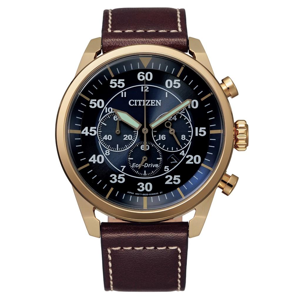 CITIZEN星辰 CA4213-26L 三眼計時光動能腕錶 廠商直送 現貨