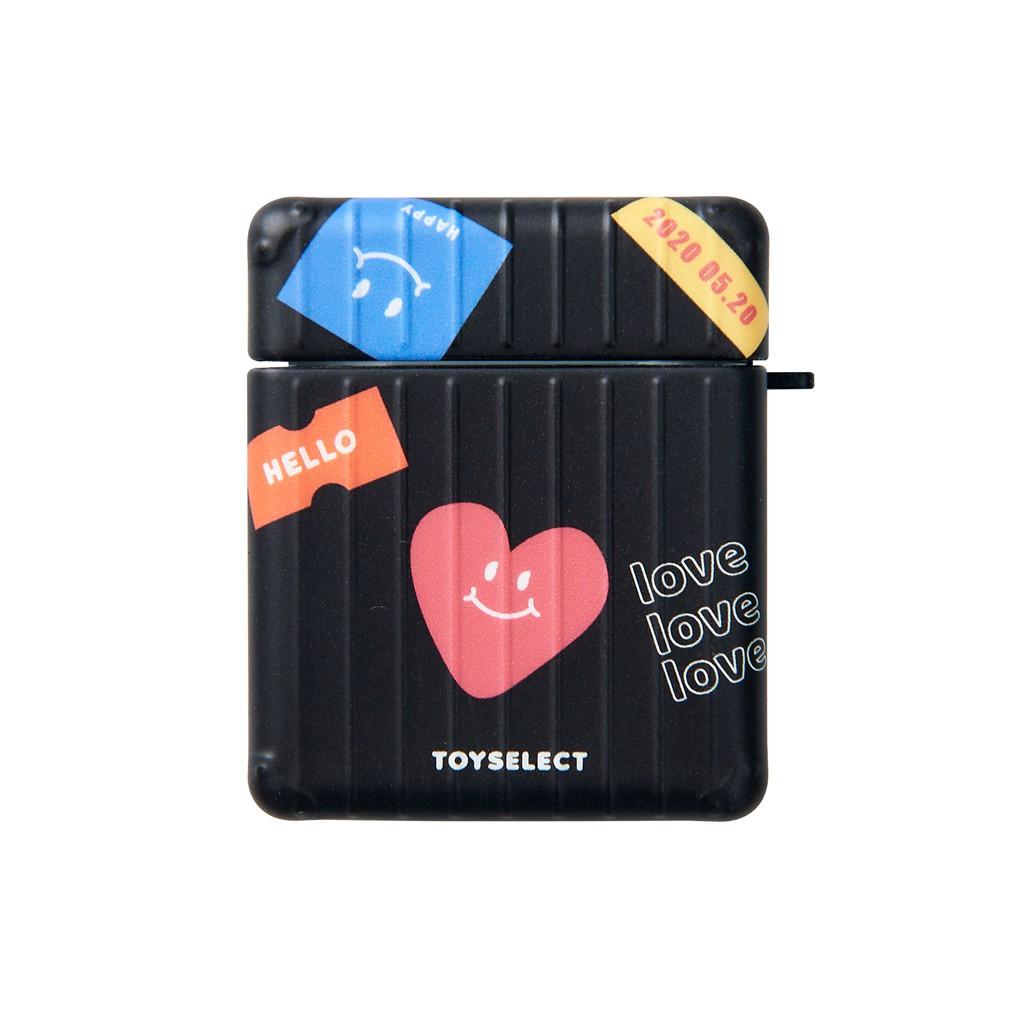 【TOYSELECT】Smilie童趣拼貼防摔行李箱AirPods 1/2 & Pro保護套