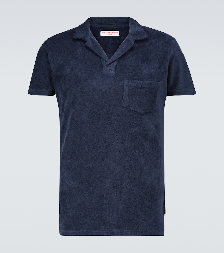 Terry toweling cotton polo shirt