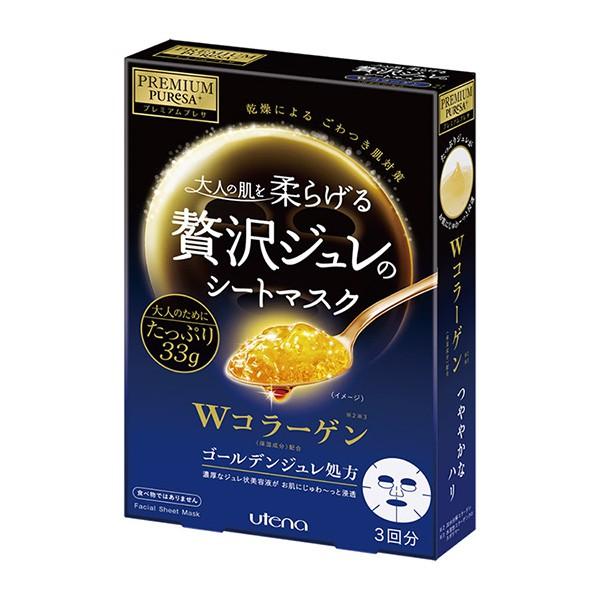 日本UTENA佑天蘭 黃金果凍面膜(膠原蛋白) 33g*3片【康是美】