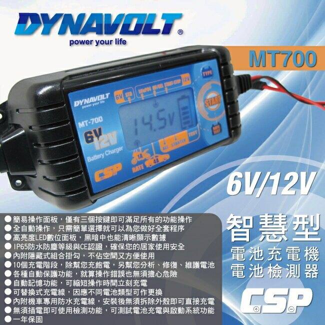【CSP】MT700多功能脈衝式智能充電器(非常適合鋰鐵電池 充電/維護/脈衝/檢測/ 6V/12V用)