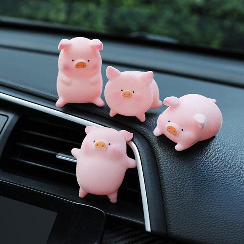 汽車擺件車載可愛公仔車內飾品娃娃創意車上裝飾用品可愛網紅小豬  潮流居家 雙11