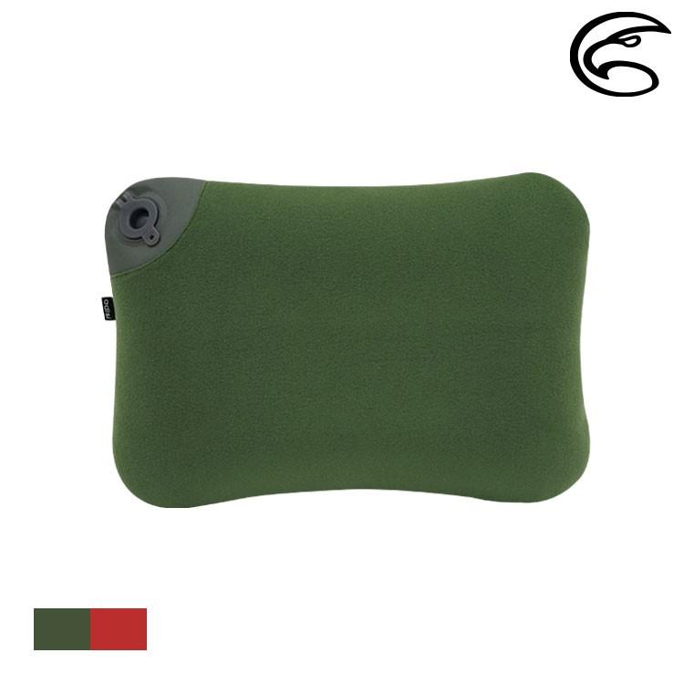 ADISI 天鵝絨空氣枕 API-103SR+COVER【松綠色】睡枕 充氣枕 登山露營 旅行
