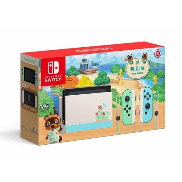 【玩樂小熊】新型續航版 台灣公司貨 集合啦!動物森友會 特仕 Nintendo Switch主機