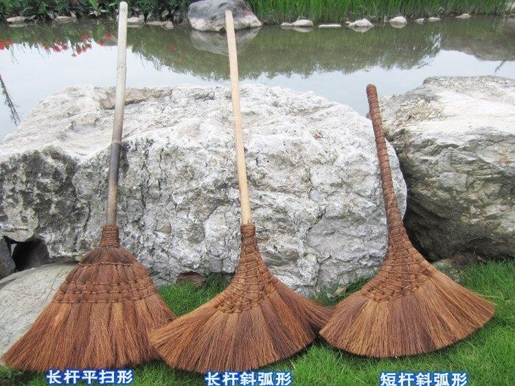 手工掃帚棕絲長柄竹掃把不沾灰防靜電 棕掃把
