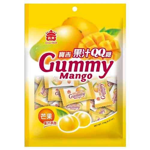 義美芒果果汁QQ糖176g【愛買】