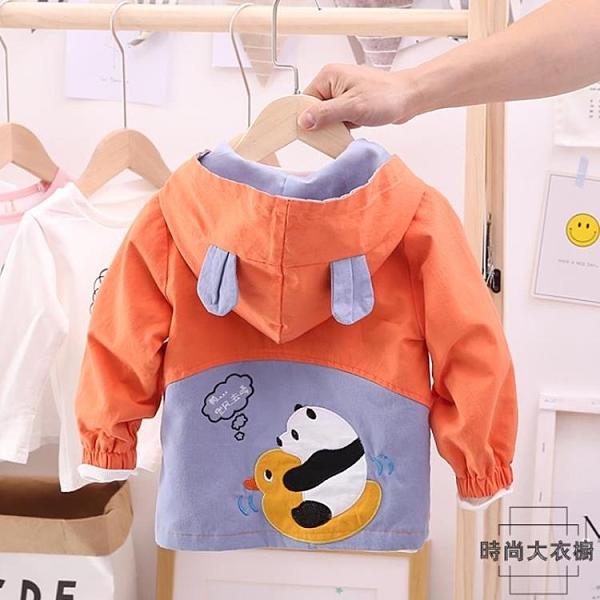 男童春秋裝風衣童裝寶寶卡通可愛夾克兒童外套洋氣