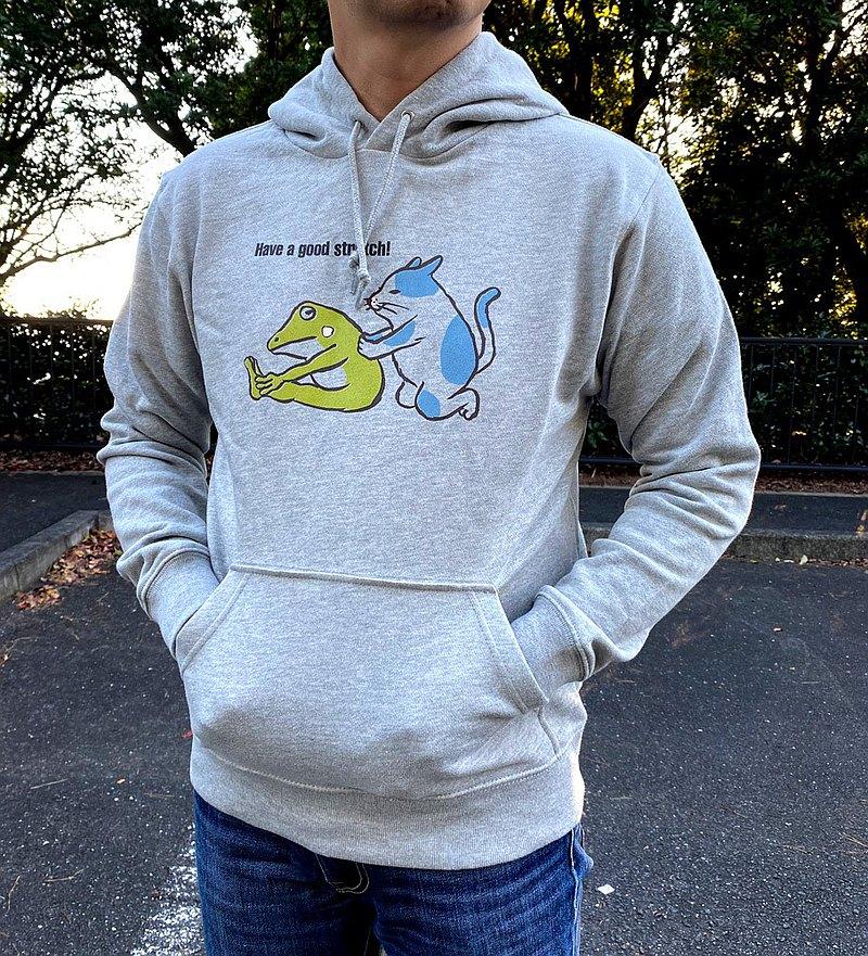 套頭衫帕克貓和藍色青蛙伸展男女通用