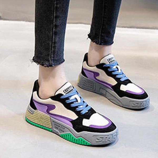 時尚老爹鞋女 厚底增高運動鞋 真皮休閒鞋-夢想家-標準碼-1026