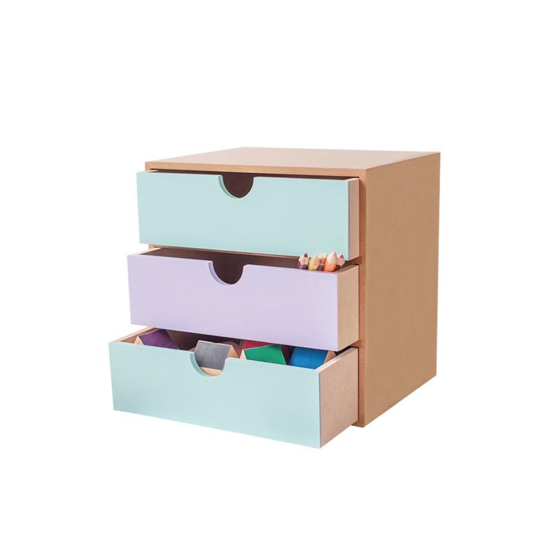 宅貨|三層收納盒 收納櫃 置物櫃 桌上收納 抽屜櫃 台灣製 【MF05】