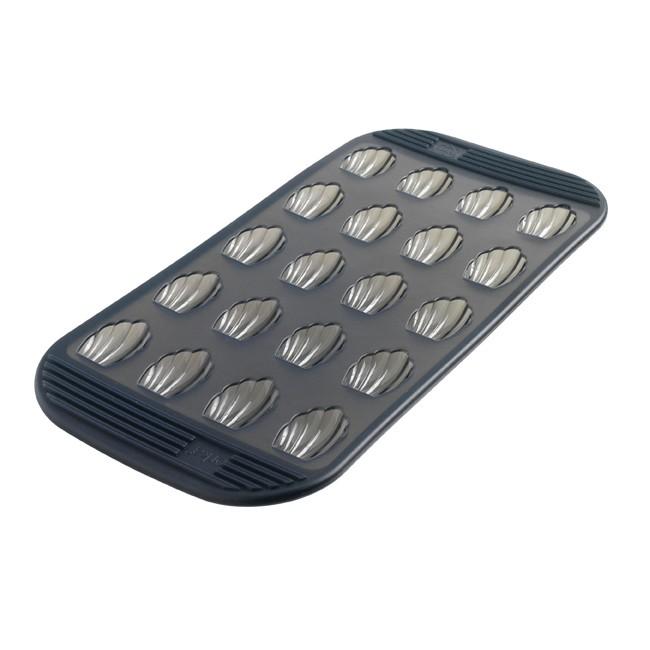 法國mastrad 20格迷你瑪德蓮矽膠烤盤(透明灰)