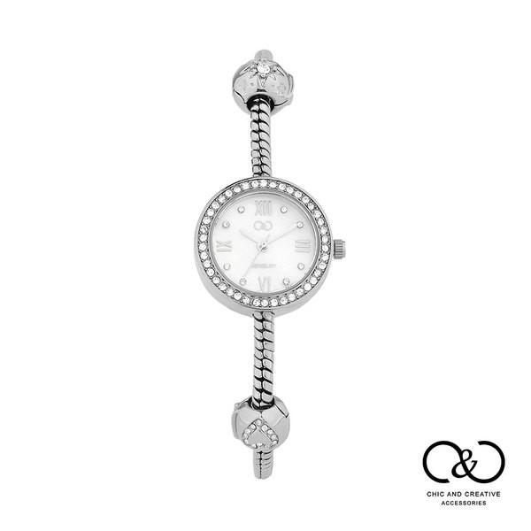 【C&C】義大利潘朵拉款氣質鍊錶(典雅銀x晴空白/玫瑰金x晴空白/玫瑰金x夜空黑)_W-CC-Y023