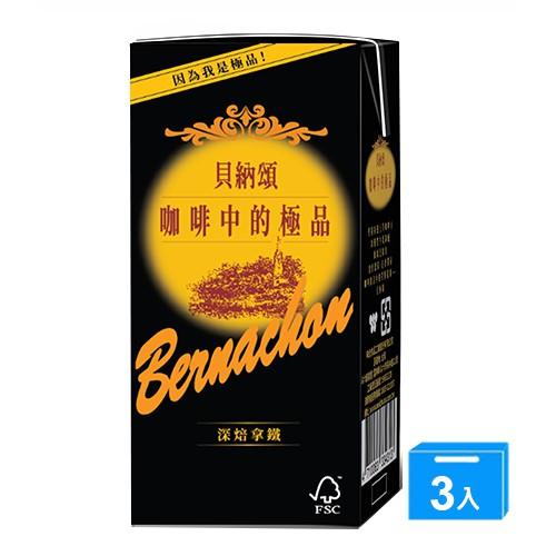 貝納頌咖啡深焙拿鐵375ml x 3【愛買】