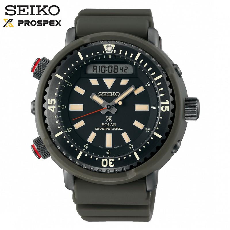 SEIKO SNJ031P1《太陽能電子雙顯200M潛水錶 PROSPEX鮪魚罐頭STREET系列》48mm【第一鐘錶】