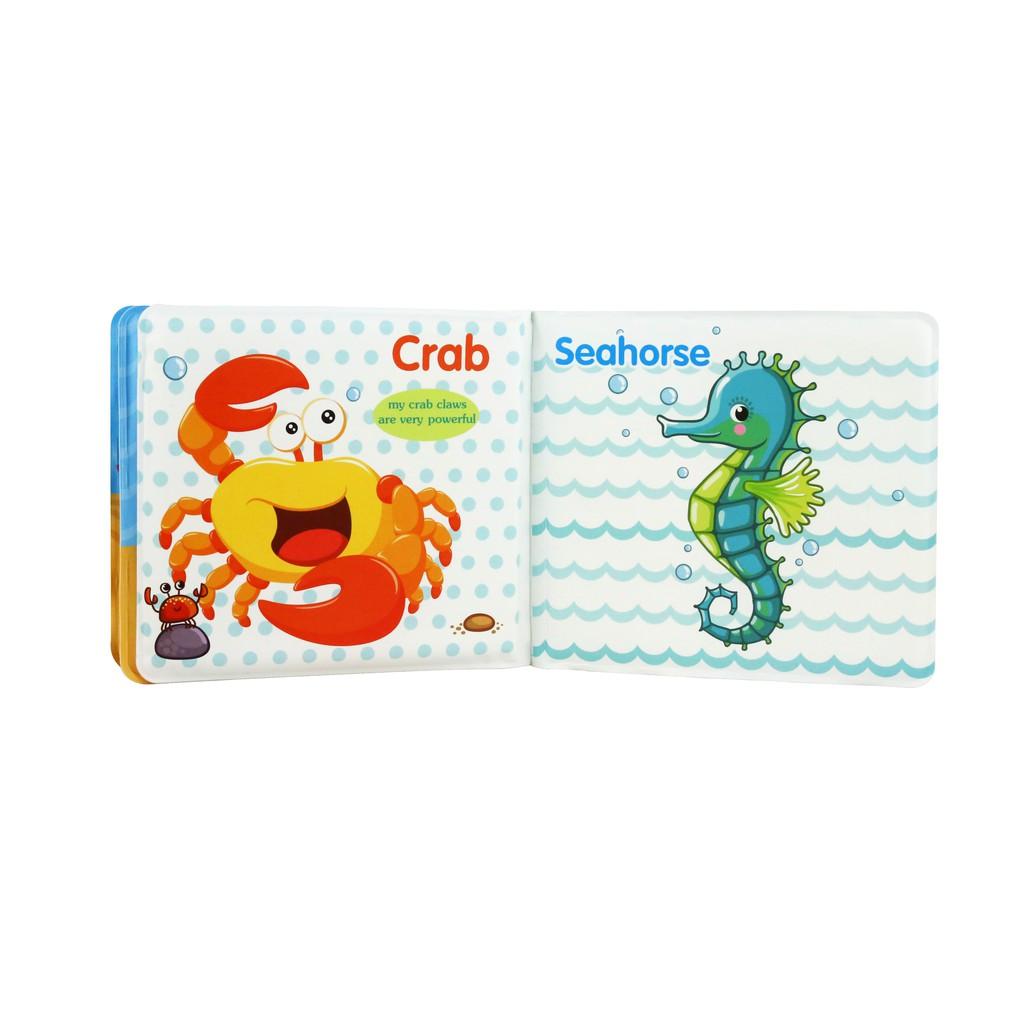 Fun Bath Books-海洋世界-幼兒專屬撕不破洗澡書(機能布料材質水洗不褪色)