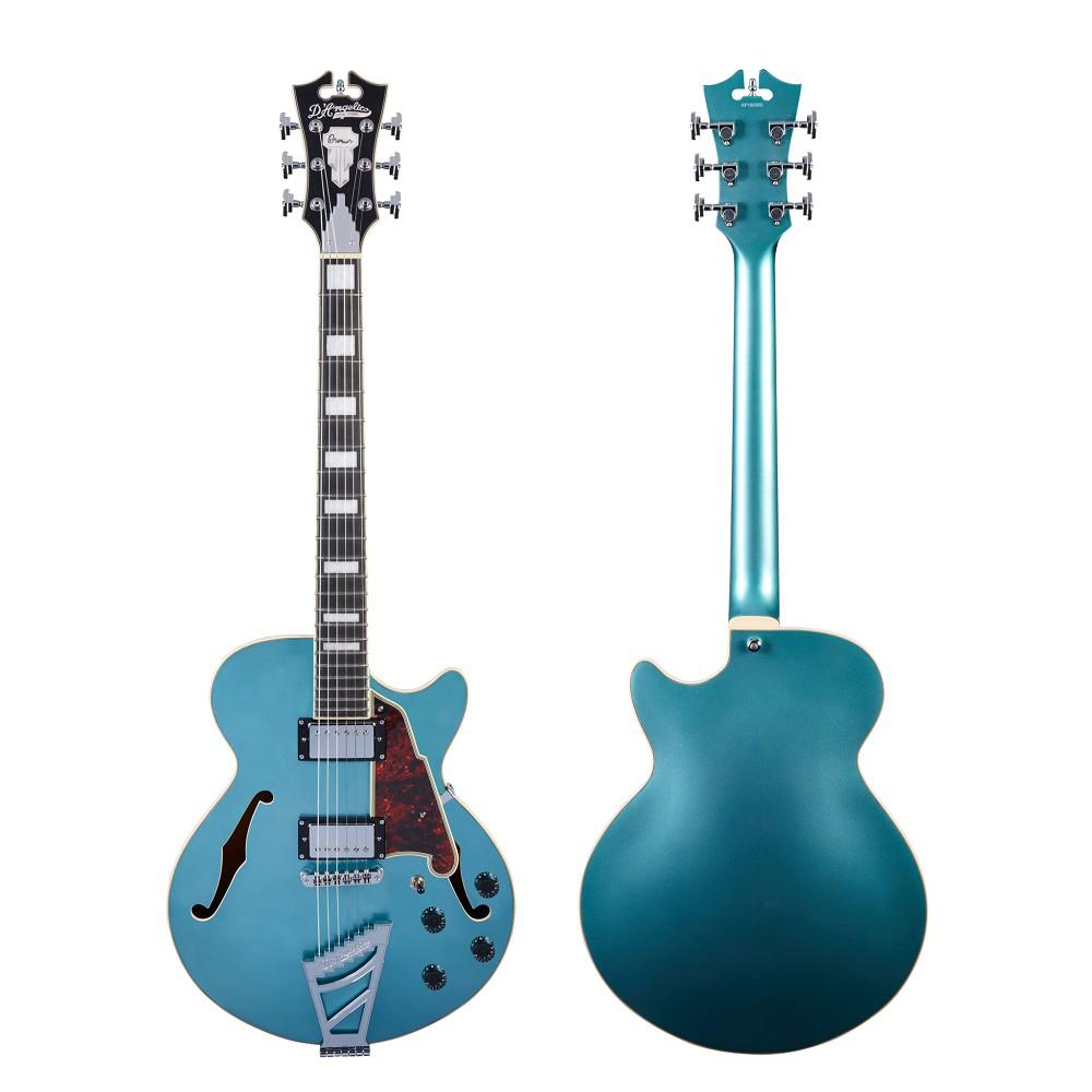 D'Angelico Premier DC 藍色 爵士 電 吉他 半空心 Jazz ES175 贈原廠琴袋