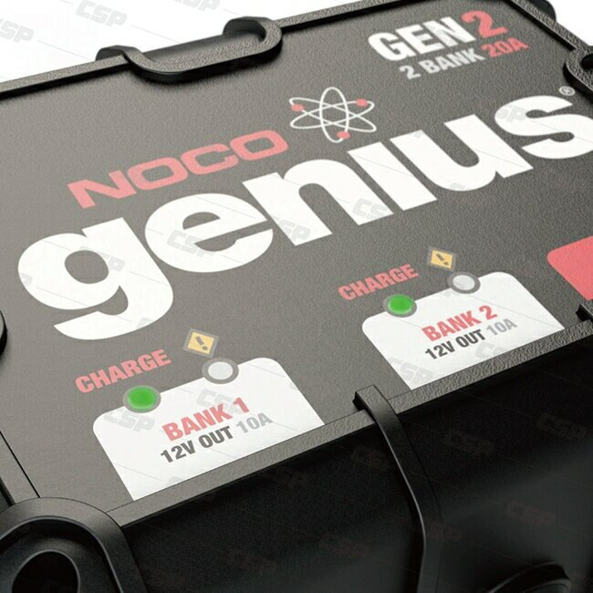 NOCO Genius GEN2水陸兩用充電器 /適合充到230AH電池 12V電池維護 雙輸出 自動斷電 汽車充電