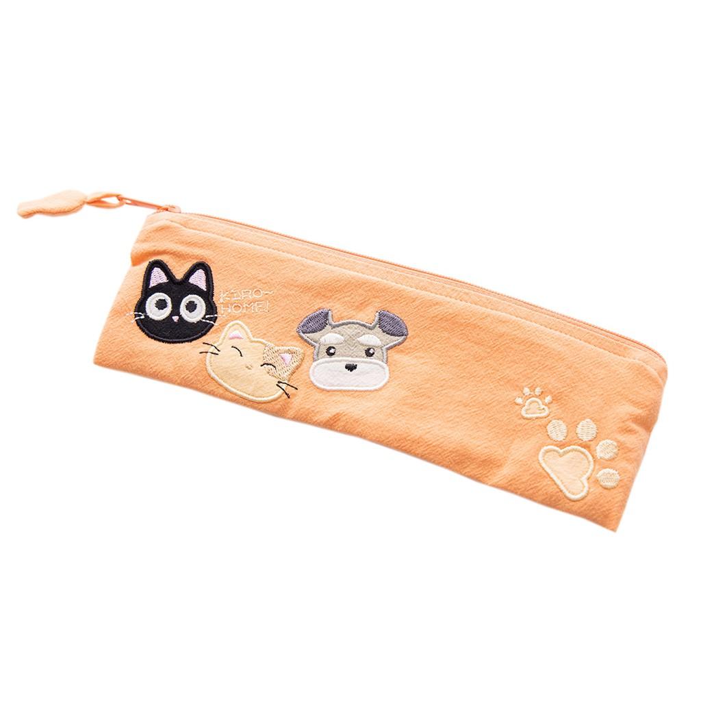 【Kiro貓】Kiro家族 刺繡 環保筆袋/筷套餐具袋【820144007】