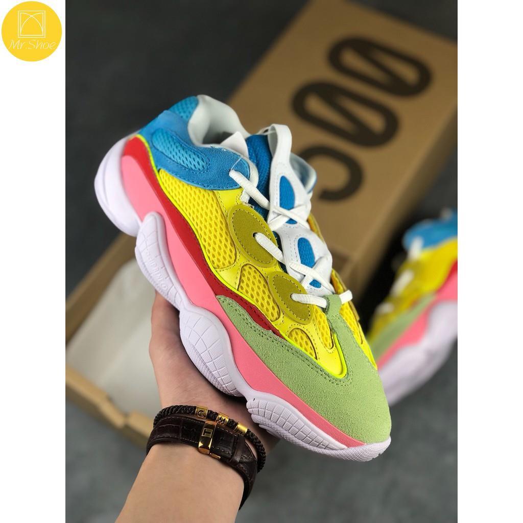 【Mr.Shoe】adidas YEEZY 500 侃爺椰子500 彩虹色 減震緩震跑步鞋情侶潮鞋 DB2978