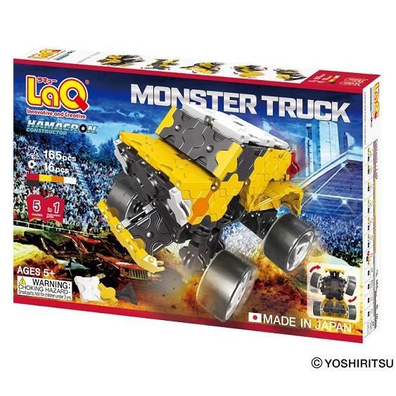 【LaQ】怪獸卡車 (165pcs+16pcs) 日本製造立體3D拼接積木/益智玩具/台灣獨家代理
